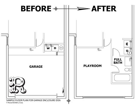 Garage Enclosure Floor Plans