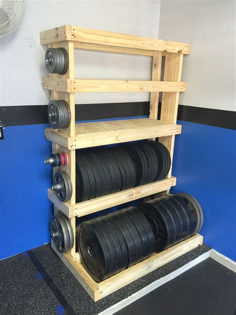 Garage Gym Reviews DIY Weight Rack