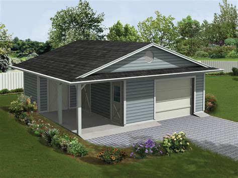 Garage Plan With Covered Porch