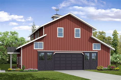 Garage Plans 3 Car Barn