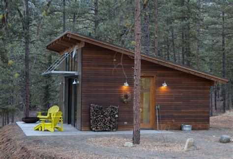 Garage Plans Simple With Slant Roof Cabin