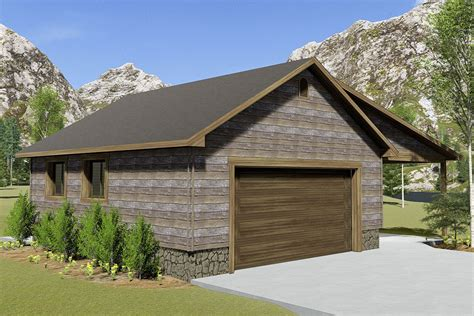 Garage Plans With Bathroom And Covered Porch