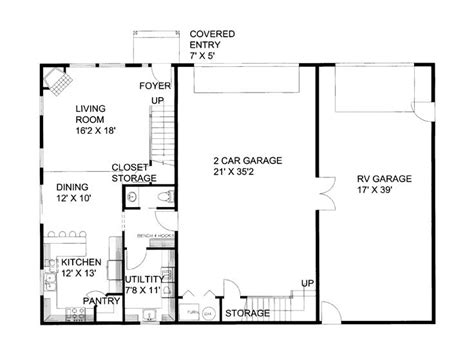 Garage Plans With Living Quarters First Floor