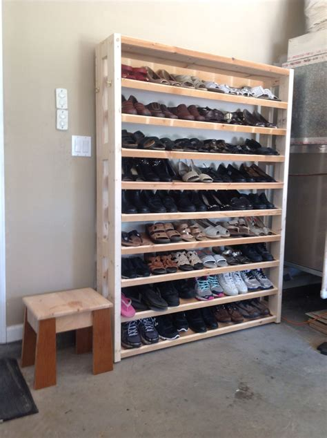 Garage Shoe Rack Plans