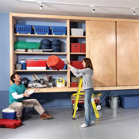 Garage Storage Wall Cabinets Diy