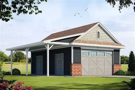 Garage With Patio Plans