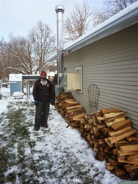 Garage Wood Stove Installation