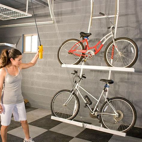 Garage ceiling bike storage ideas Image