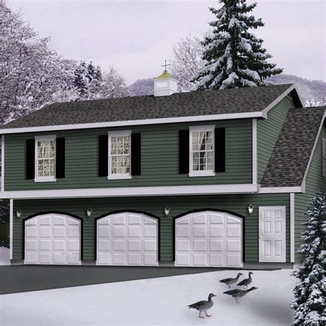 Garage-Plans-With-Apartment-2-Bed-One-Level