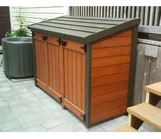 Best Garbage can storage shed plans