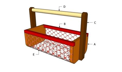 Garden Basket Woodworking Plans