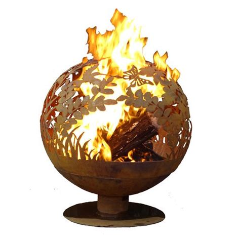 Garden Fire Sphere Steel Wood Burning Fire Pit