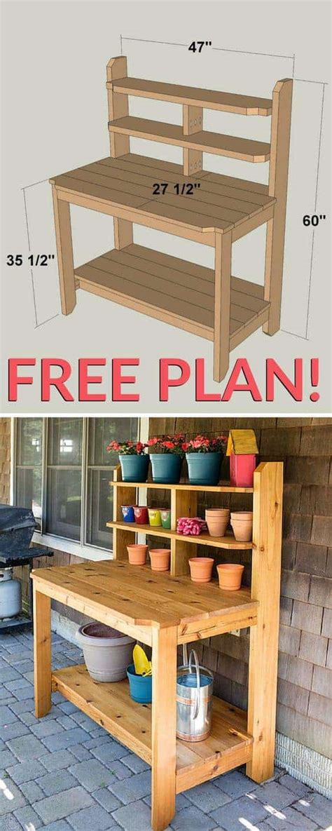 Garden Potting Bench Plans