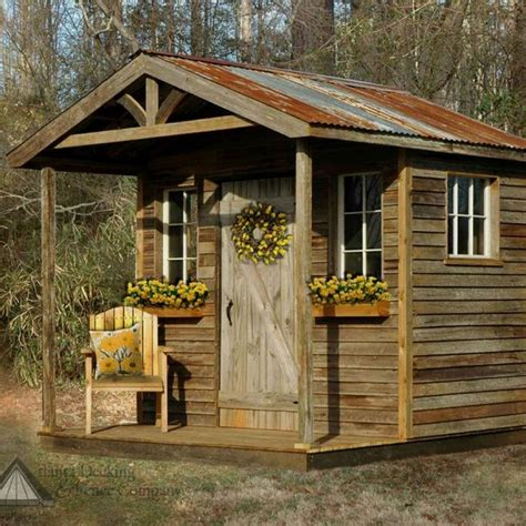 Garden Shed Building Plan Rustic Outdoor Woodwork