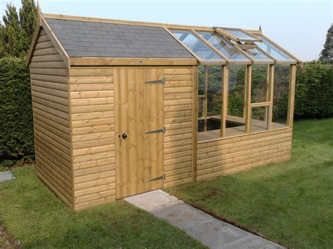 Garden Shed Greenhouse Combo Plans