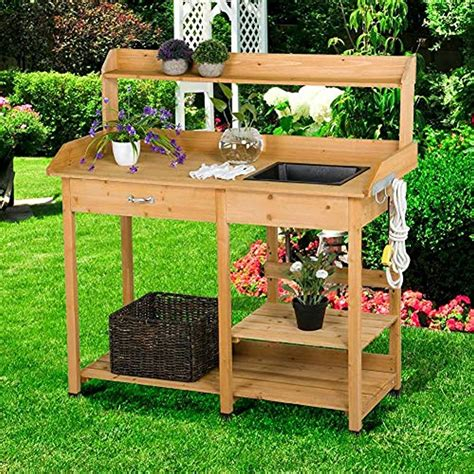 Garden Work Table With Sink