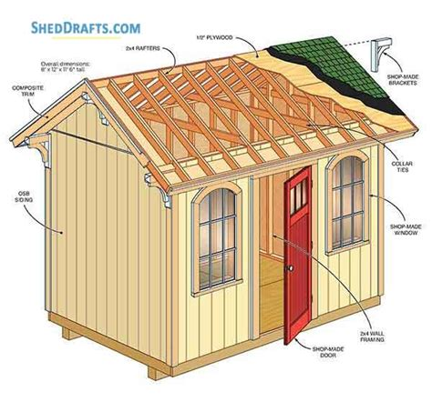 Garden shed plans 8x12 asp tutorial Image