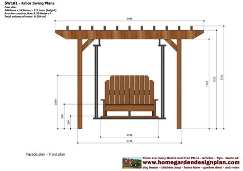 Garden-Arbor-With-Swing-Plans