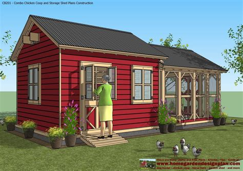 Garden-Shed-With-Chicken-Coop-Plans