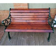 Best Garden bench cast iron heavy modern