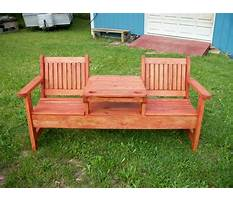 Best Garden bench with table in middle plans