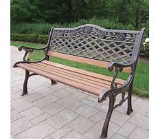Best Garden benches cast iron and wood