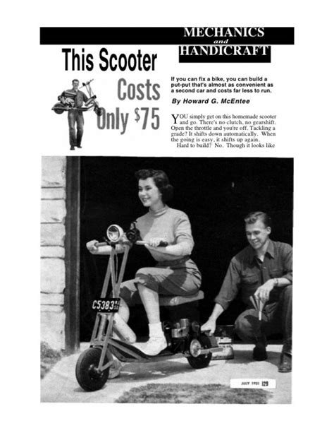 Gas Scooter Building Plans