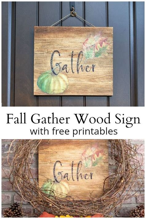 Gather Wood Sign Diy Tutorialas