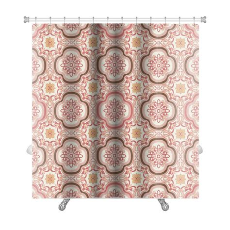 Gecko Vintage Flower Floral Abstract Wallpaper Royal Fabric Premium Shower Curtain By Gear New