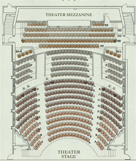 Geffen Playhouse Seating Plan