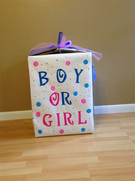 Gender Reveal Box Ideas DIY