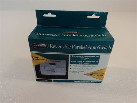 Generic Brand for Belkin Reversible Parallel Autoswitch F1U109!!