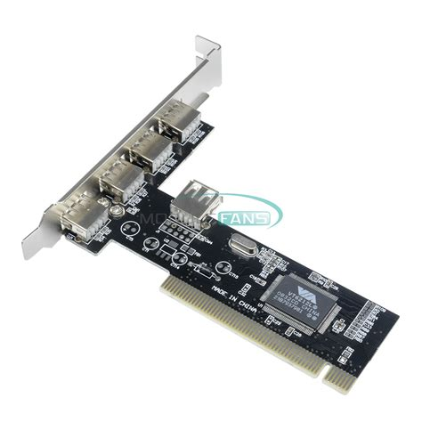 Generic Brand for USB 2.0 4+1 Port 480 Mbps High Speed VIA VT6212L HUB PCI Controller Card Adapter