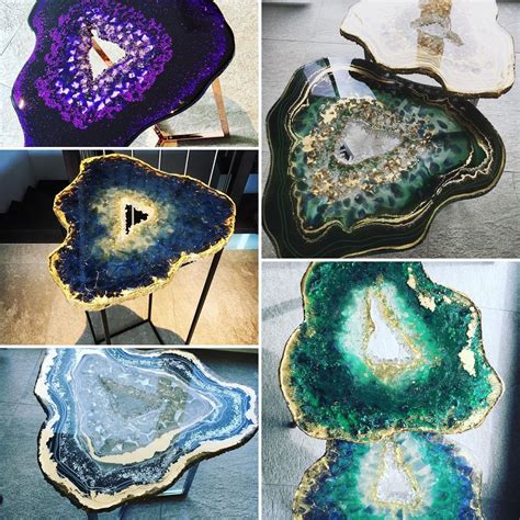 Geode Table Diy Design