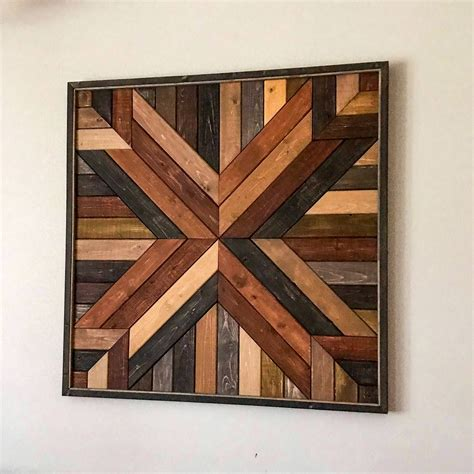 Geometric Wood Quilt Wall Art Diy