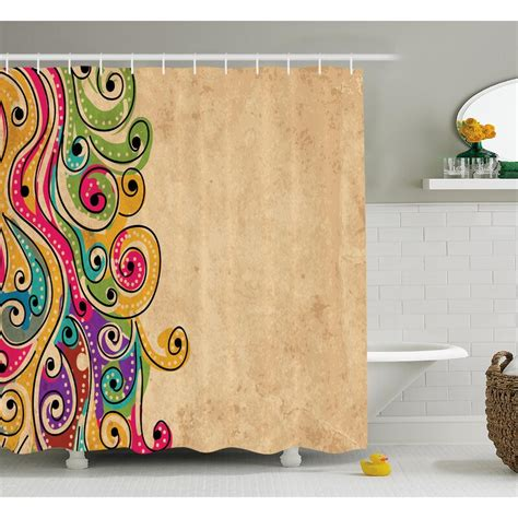 Georgetta African Folk Art Forms Shower Curtain