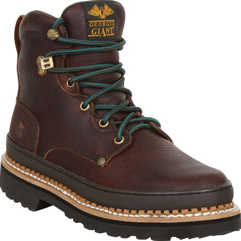 Georgia Giant 6in. Work Boot - Brown, Size 13W, Steel Toe, Model# G6374