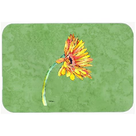Gerber Daisy Orange Kitchen/Bath Mat By Carolines Treasures