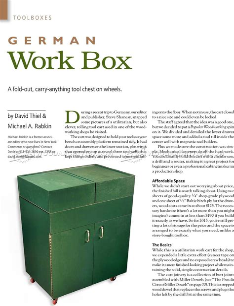 German-Work-Box-Plans