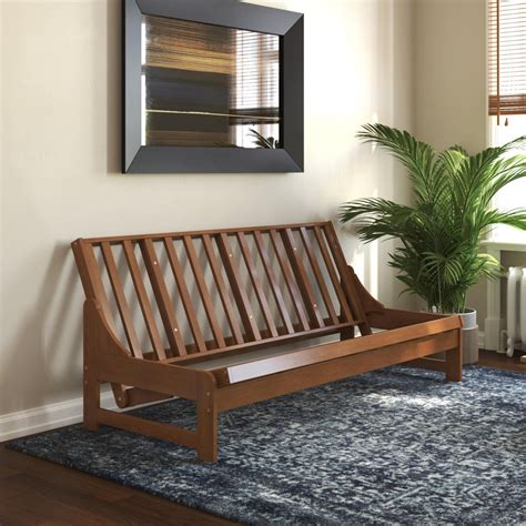 Get Futon With Wooden Frame