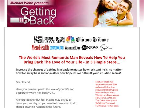 [pdf] Getting Him Back - Oprah Expert Reveals How To Get Your Ex .