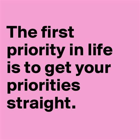 Getting Priorities Straight