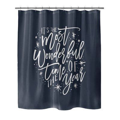 Giannini The Most Wonderful Time Shower Curtain