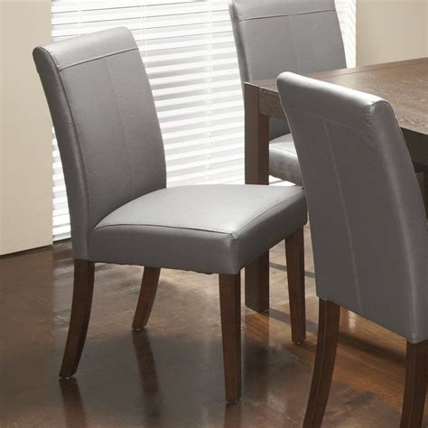 Giannone Wooden Genuine Leather Upholstered Dining Chair