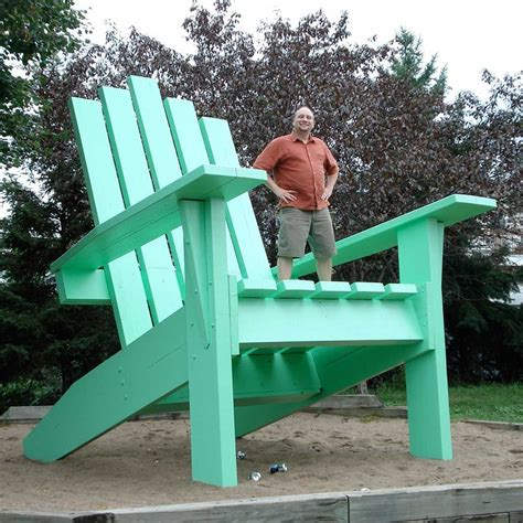 Giant Adirondack Chair Plans