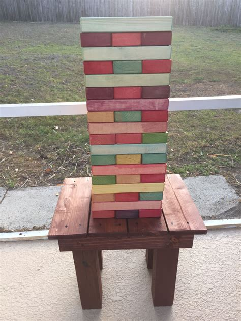 Giant Jenga Table Diy Ideas
