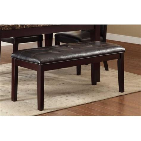 Gilbertson Faux Leather Dining Bench