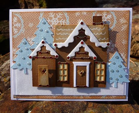 Gingerbread House Designs Christmas Cards