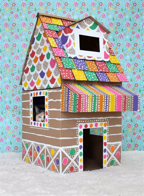 Gingerbread House Plans Made From Cardboard