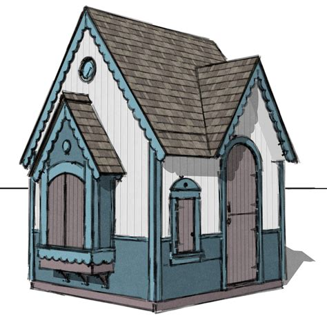 Gingerbread Playhouse Plans